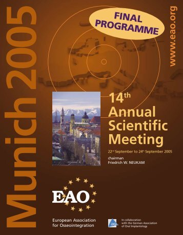 14th Annual Scientific Meeting - Colloquium