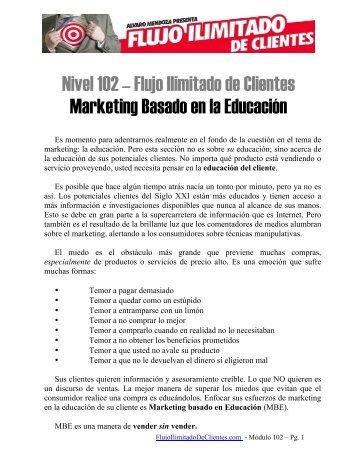 Flujo Ilimitado de Clientes Marketing Basado en la Educación