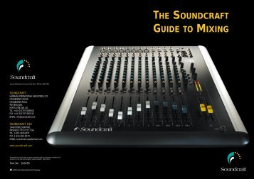 Soundcraft Guide to Mixing - Music
