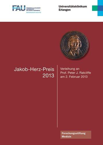 Festschrift Verleihung Jakob-Herz-Preis 2013 - Forschungsreferat