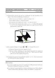 Examen final - Departament de Matemàtica Aplicada II - UPC