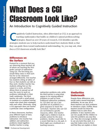 What Does a CGI Classroom Look Like?