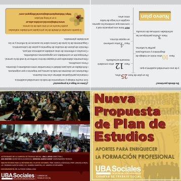 Nueva Propuesta de Plan de Estudios - Carrera de Trabajo Social