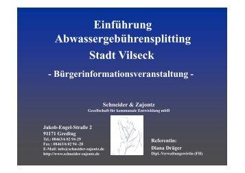Schneider & Zajontz - bei der Stadt Vilseck