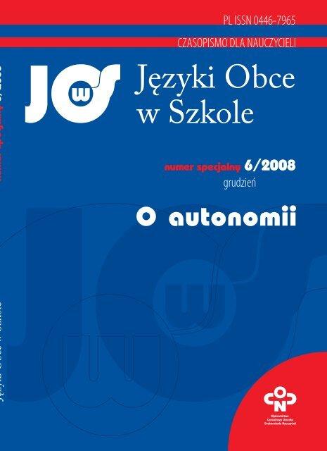 Jäzyki Obce W Szkole Biblioteka Cyfrowa Oårodka Rozwoju