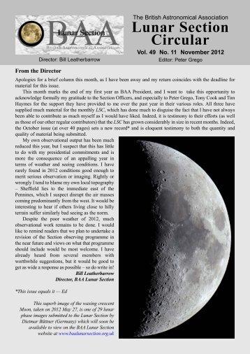 Vol 49, No 11, Nov 2012 - BAA Lunar Section