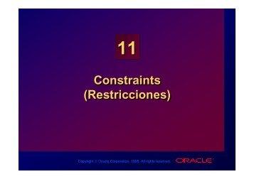 Constraints (Restricciones) Constraints (Restricciones)