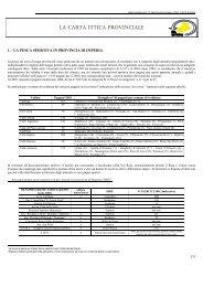 LA CARTA ITTICA PROVINCIALE - Provincia di Imperia