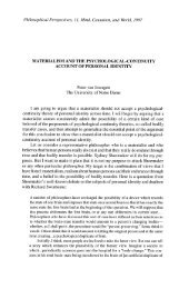 Materialism and the Psychological-Continuity ... - Andrew M. Bailey