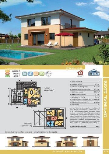 OPTIMAL 1 039 - Rodinné domy