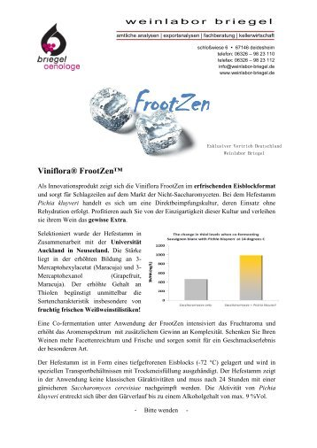 Viniflora® FrootZen - Weinlabor Briegel