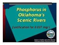 Phosphorus in Oklahoma's Scenic Rivers - Water Resources Board