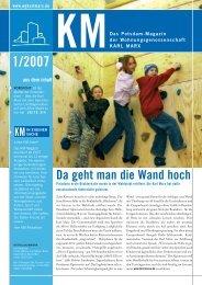 KM Magazin 1/2007 - Wohnungsgenossenschaft