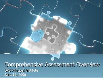 Comprehensive Assessment Overview