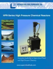 HPR-Series High Pressure Chemical Reactors - Supercritical Fluid ...