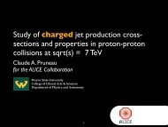 Study of charged jet production cross- sections and properties in ...