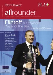 Flintoff is crowned Player of the Year - The Professional Cricketers ...