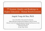 Dr. Angela Yung-chi Hou - International Observatory on Academic ...