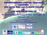 UNDERSTANDING COASTAL GEOLOGIC HAZARDS, SEA LEVEL ...