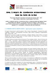 Appel à projet JEUNES COMPOSITEURS - Conseil Général des ...