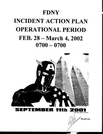 Fdny  Incident Action Plan Thursday  September  Digital Archive