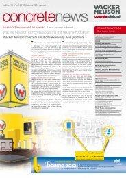 Wacker Neuson concrete solutions mit neuen Produkten Wacker ...