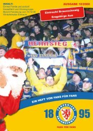 Heft 10: FC Erzgebirge Aue - FanPresse Braunschweig