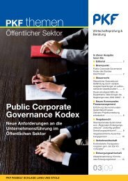 Public Corporate Governance Kodex - PKF Fasselt Schlage