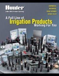 LIT-060 Hunter 2004-2005 Product Catalog - Ewing Irrigation