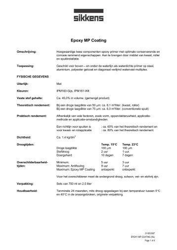Epoxy GP Coating [nl] - Marinestore.nl
