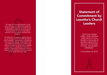 Statement of Commitment by Lesotho's Church.pdf - Anglican Health ...