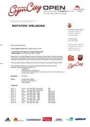 INVITATION / EINLADUNG - SC Cottbus Turnen e.V.