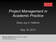 Project Management in Academic Practice