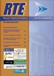 Revista Tinerilor Economişti - Centru E-learning de Instruire al ...