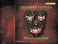 Chamber Vespers - Chandos