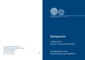 Symposium - UniversitätsKlinikum Heidelberg