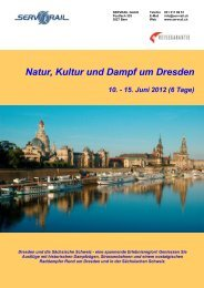Natur, Kultur und Dampf um Dresden - SERVRail