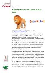 Canon Creative Park: waar printen tot leven komt