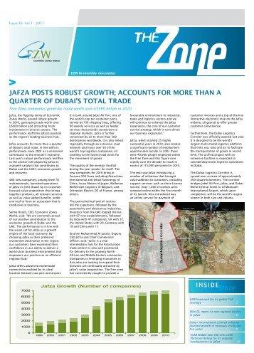 jafza posts robust growth - Jebel Ali Free Zone