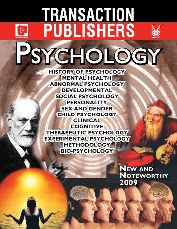 social psychology - Transaction Publishers