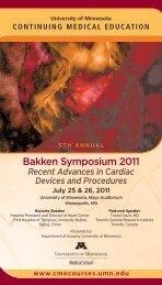 Bakken Symposium 2011 - University of Minnesota Continuing ...