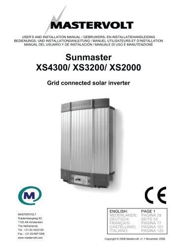 Sunmaster XS4300/ XS3200/ XS2000