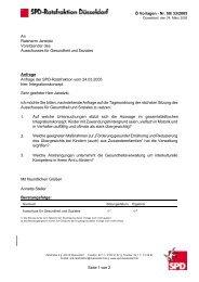 Ö Vorlagen - Nr. 50/ 33/2005 Seite 1 von 2 An ... - SPD Düsseldorf