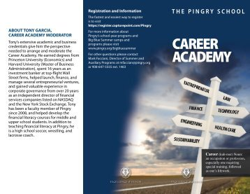 CAREER ACADEMY - Pingry School