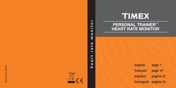 PERSONAL TRAINER™ HEART RATE MONITOR - Timex