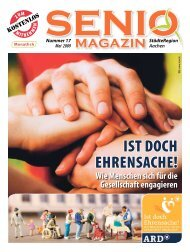 IST DOCH EHRENSACHE! - Senio Magazin