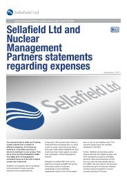 Sellafield Ltd and Nuclear Management Partners statements ...