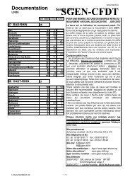 Documentation - Sgen-CFDT ALSACE