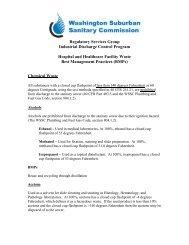 Washington Suburban Sanitary Commission - WSSC