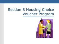 Section 8 Housing Choice Voucher Program - County of San Diego